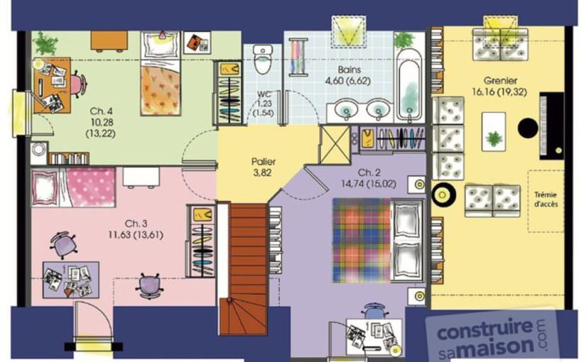 Charming Illustration Maison 7 Chambres