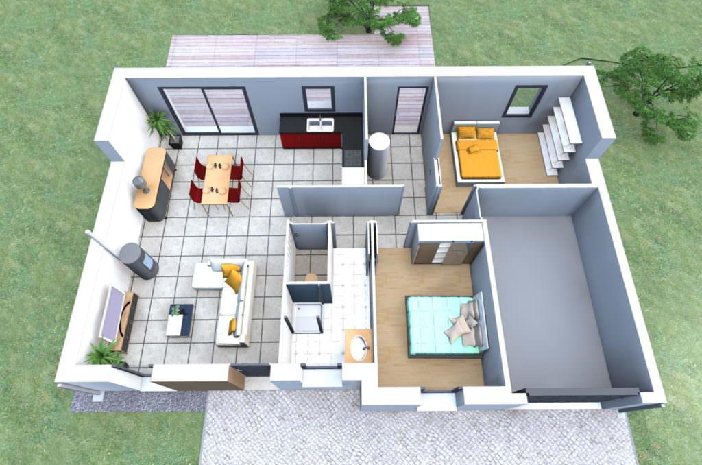 idée maison 75 m2