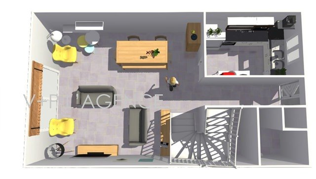 illustration maison 85m2