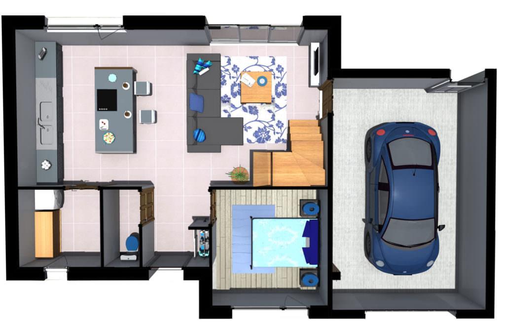 modèle maison 85m2