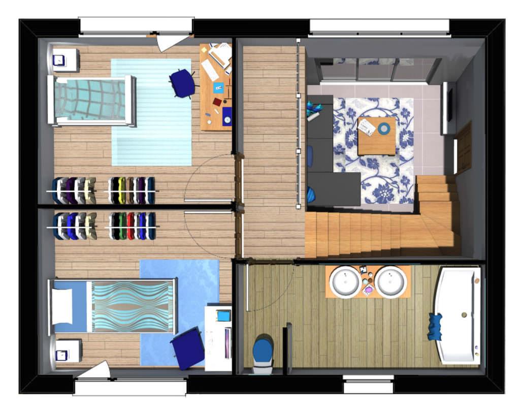 exemple maison 85m2