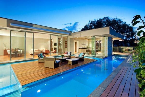 idée maison avec piscine