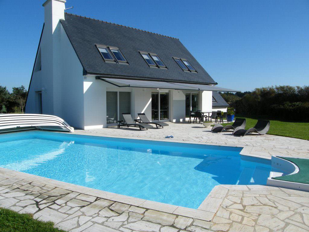 modèle maison avec piscine