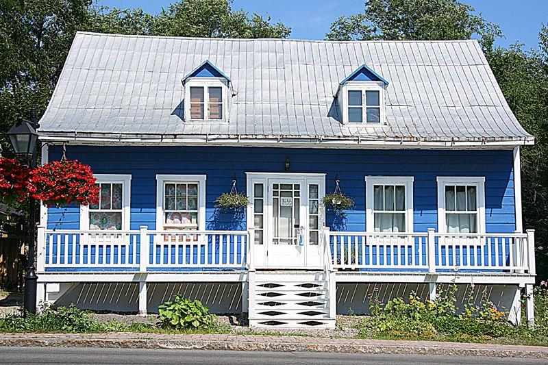 photo maison bleue