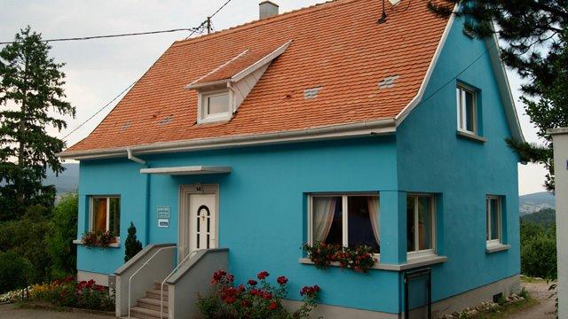 idée maison bleue