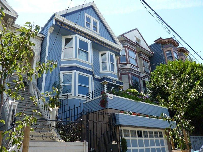 modèle maison bleue