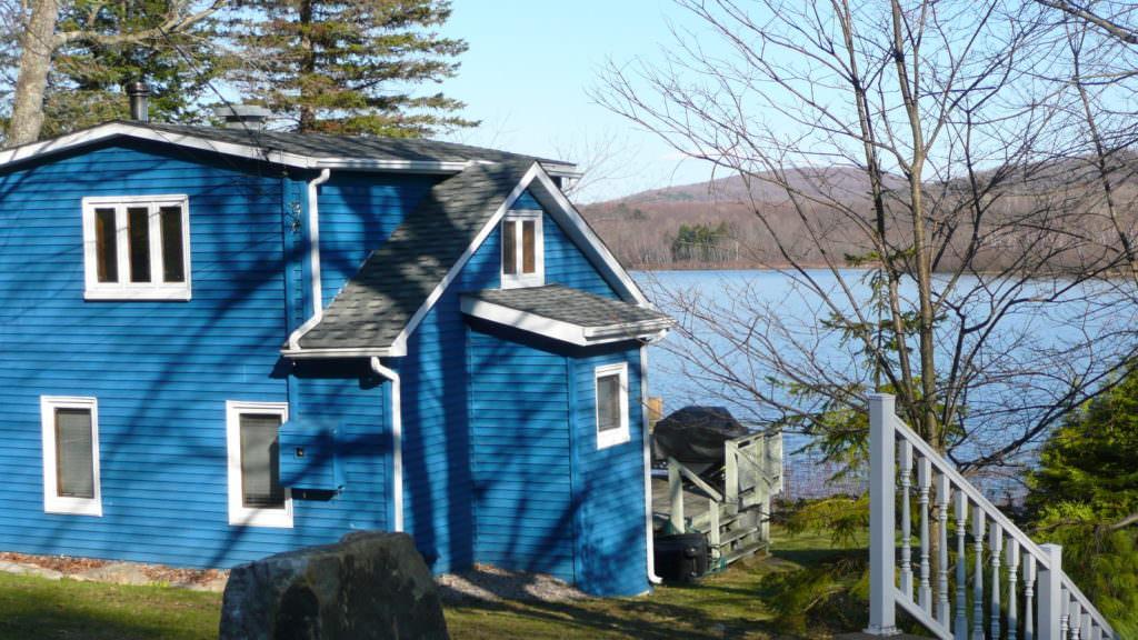 image maison bleue