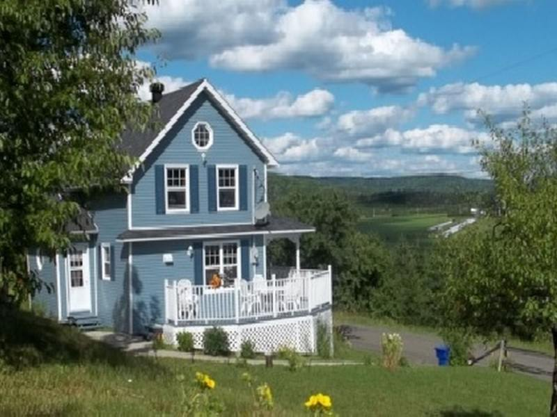 superbe maison bleue