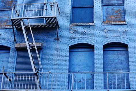 photographie maison bleue