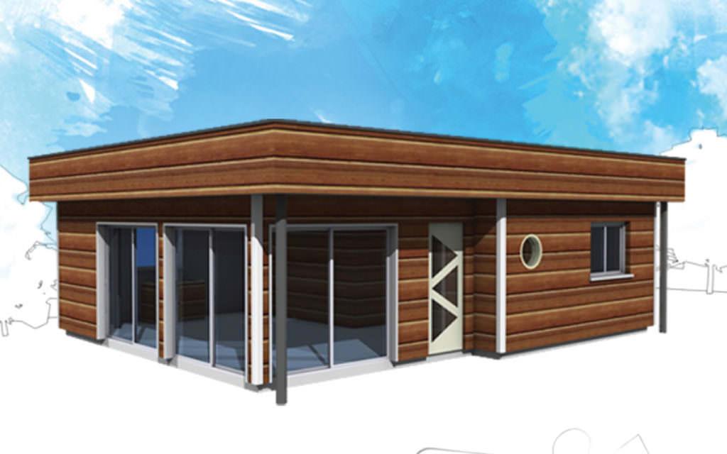 photographie maison bois kit