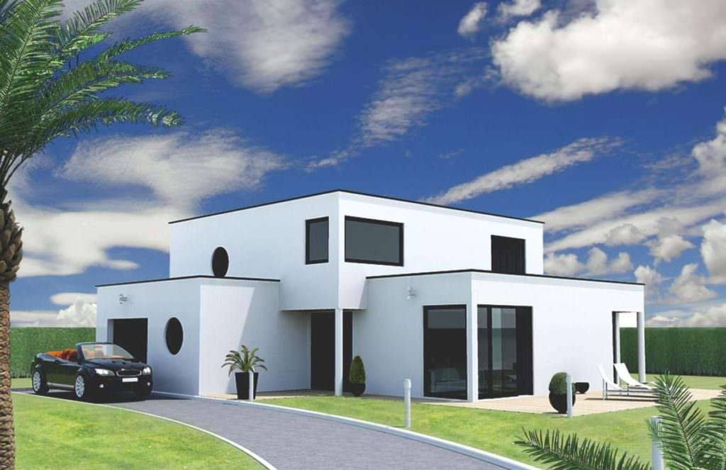 modèle maison cube