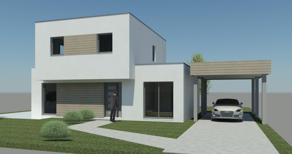 Exemple de maison beautiful modle de maison n with for Maison design cube