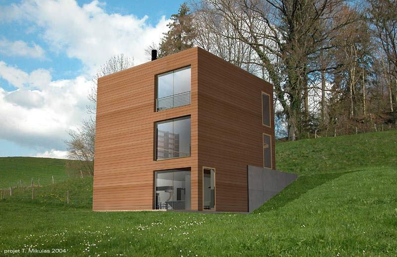 superbe maison cube
