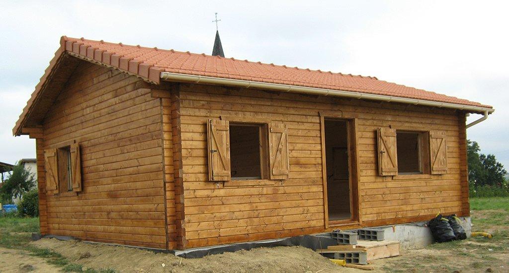 illustration maison en bois