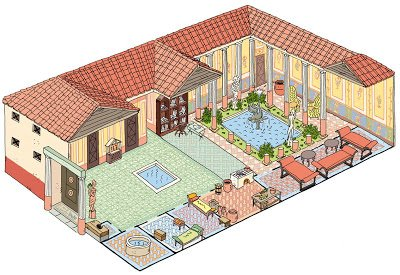 photographie maison romaine