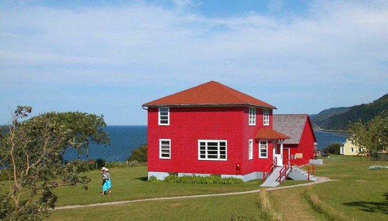 photo maison rouge