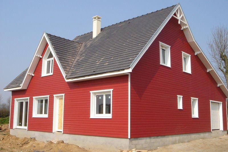 illustration maison rouge