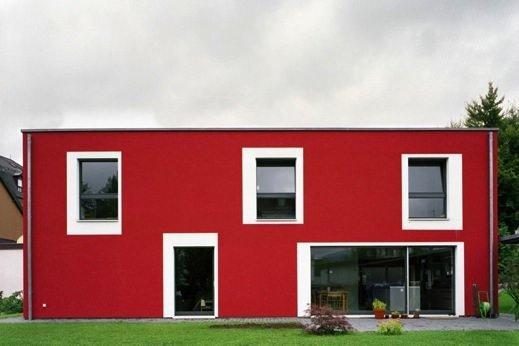 modèle maison rouge
