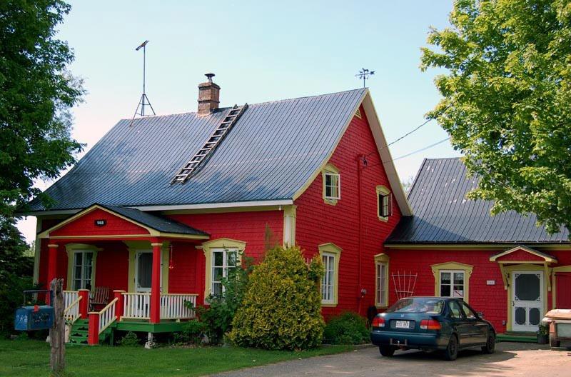 exemple maison rouge