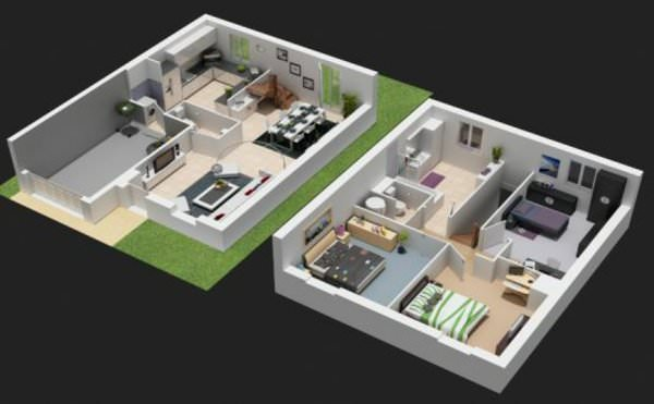 superbe plan maison 3d