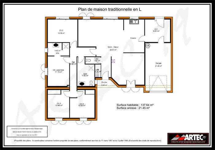 photo plan maison 4 chambres