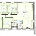 illustration plan maison 4 chambres
