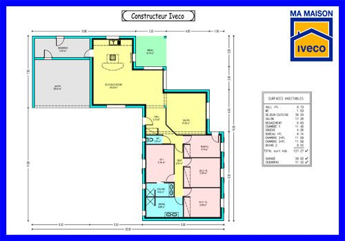 image plan maison 4 chambres