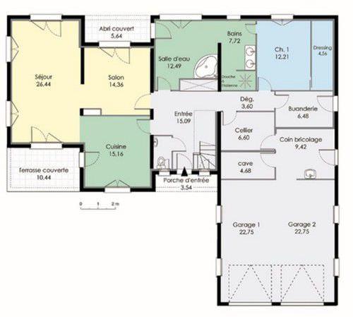 modèle plan maison contemporaine
