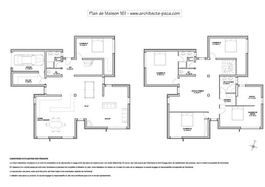 Plan maison contemporaine top maison - Plan de maisons contemporaines ...