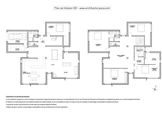 visualiser plan maison contemporaine