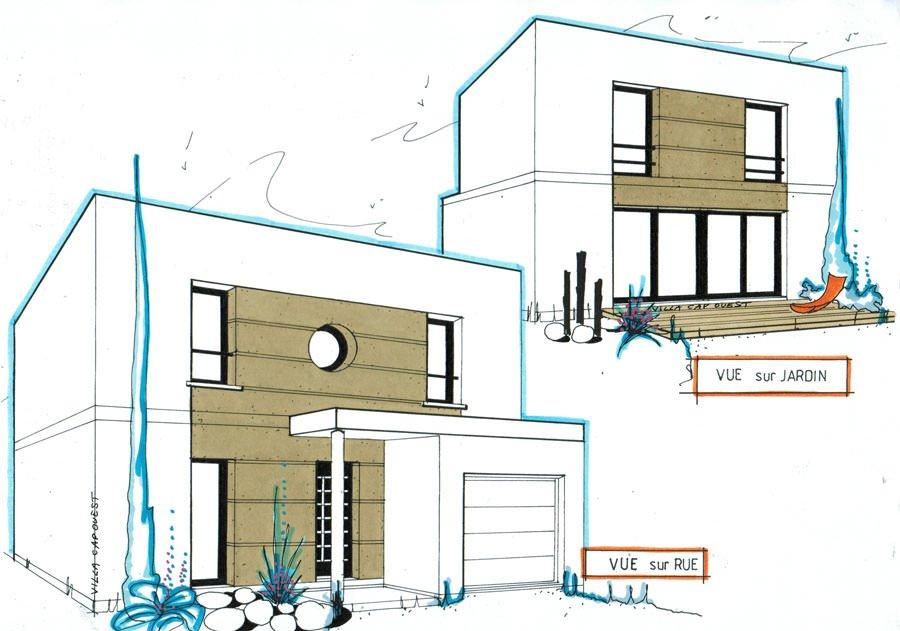 photographie plan maison cubique