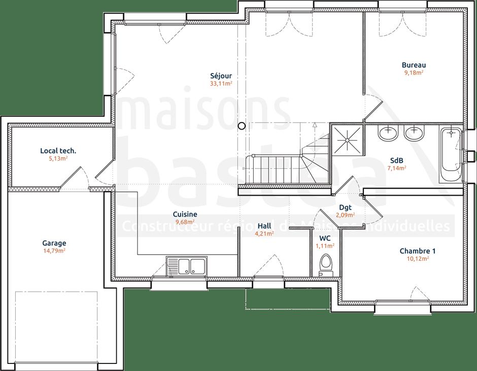 photo plan maison cubique