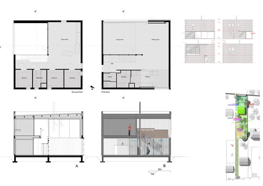 Plan maison cubique for Maison cubique plan