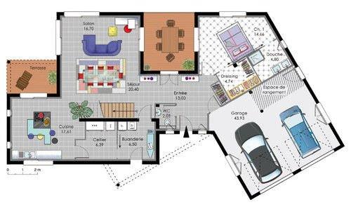 idée plan maison moderne