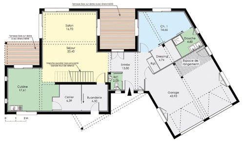 plan maison moderne top maison. Black Bedroom Furniture Sets. Home Design Ideas