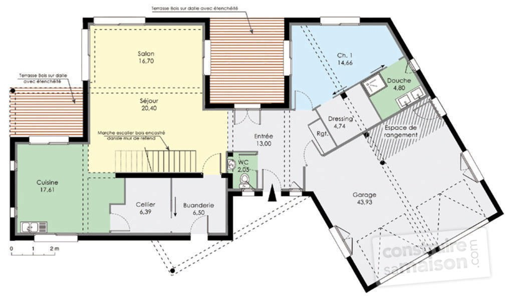 Plan maison moderne top maison for Construire sa maison com plan