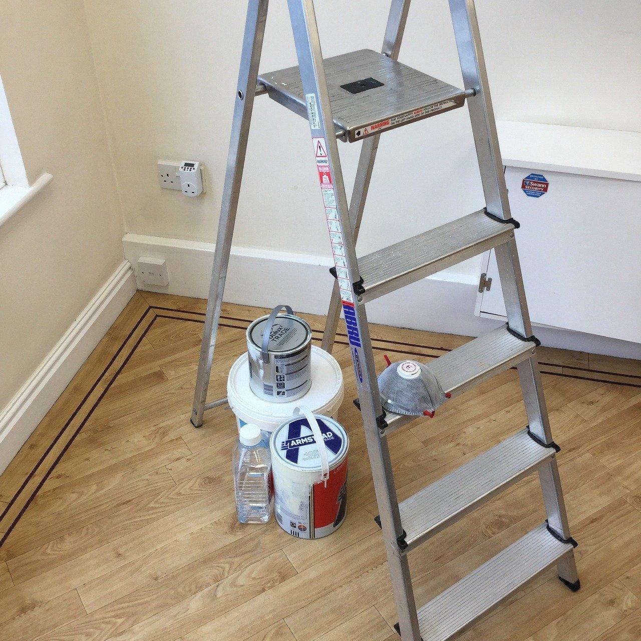 préparation outils peinture
