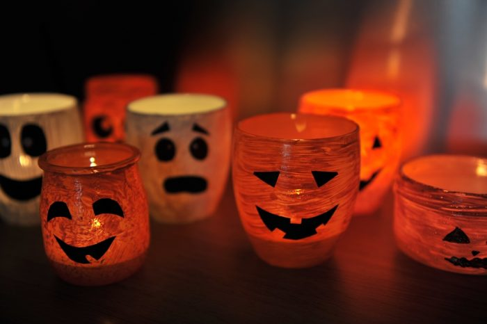 photophore Halloween en verre