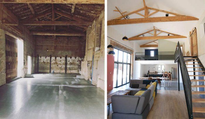 rénover une vieille grange en loft
