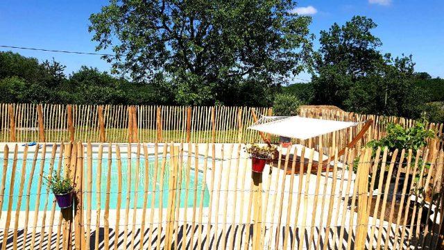Ganivelle en bois piscine