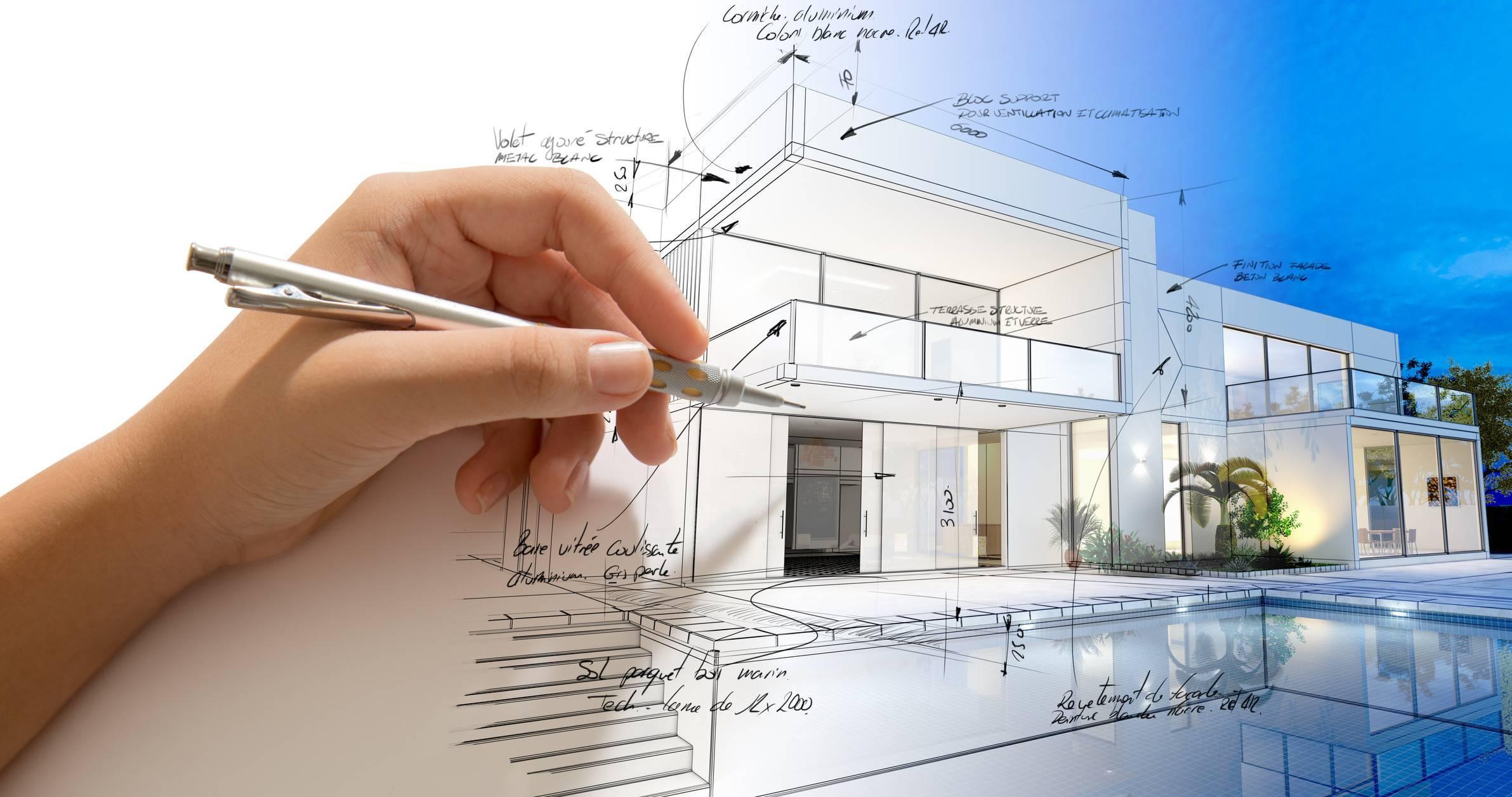 construction de villa de luxe par un architecte