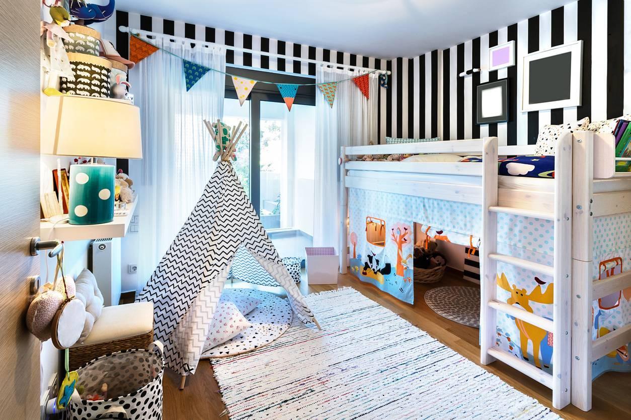 chambre d'enfant lit superposé
